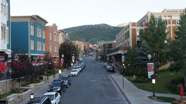 Beautiful Main Street in Park City, Utah.
