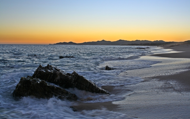 Beautiful sunset in Los Cabos
